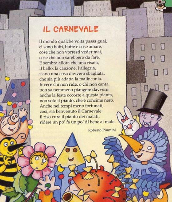 Poesie Di Natale Roberto Piumini.Il Carnevale Di Roberto Piumini Carnevale Su Filastrocche It