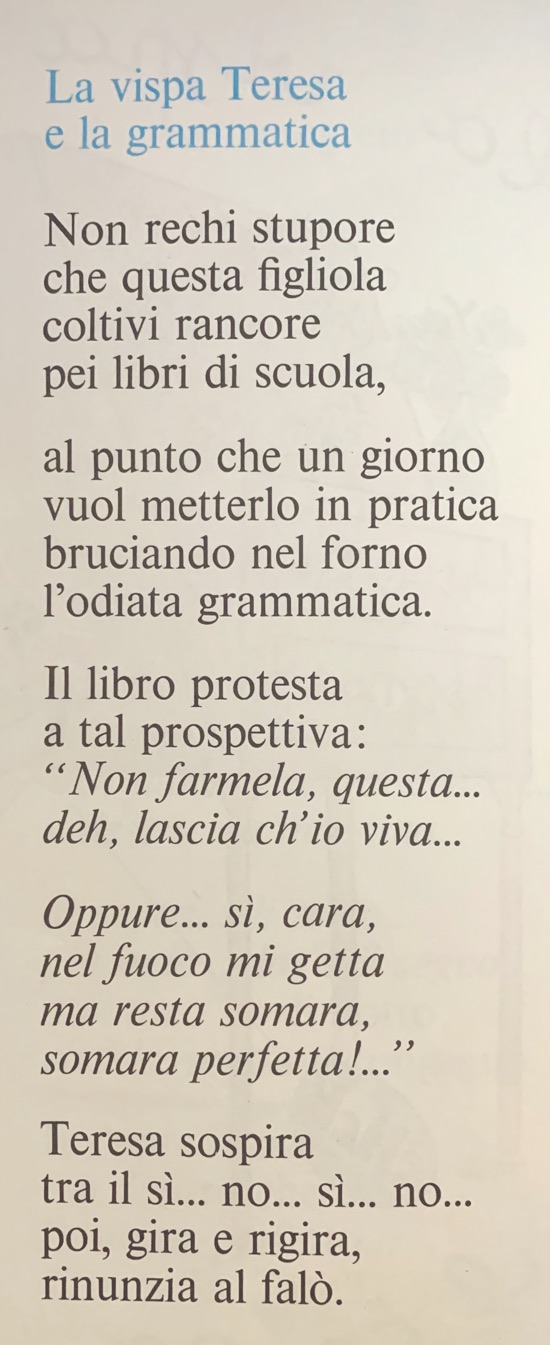 La vispa Teresa e la grammatica