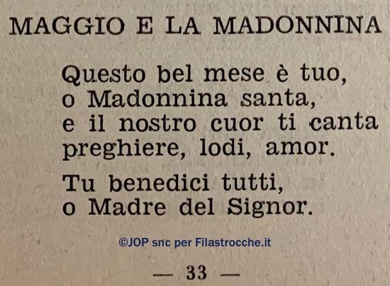 Maggio e la Madonnina