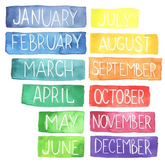Filastrocca dei mesi