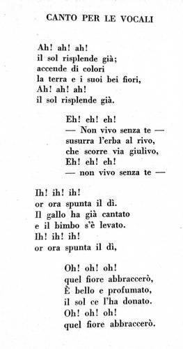 Canto per le vocali