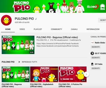 Pulcino Pio canale YouTube