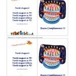 Biglietto d'Auguri Compleanno – Torta