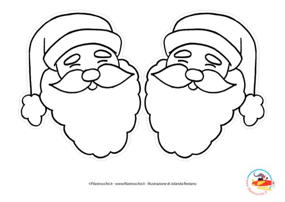 Addobbi Per L Albero Di Natale Babbo Natale Da Colorare Stampa