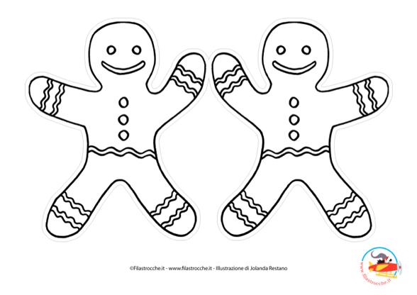 Addobbi Per L Albero Di Natale Omino Di Panpepato Da Colorare