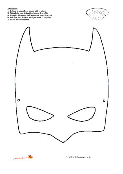 Maschere Supereroi Da Colorare E Stampare