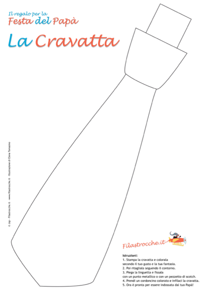 Idea StampaDisegna Cravatta Colorare Regalo Da Papà Del Festa edxBoCr