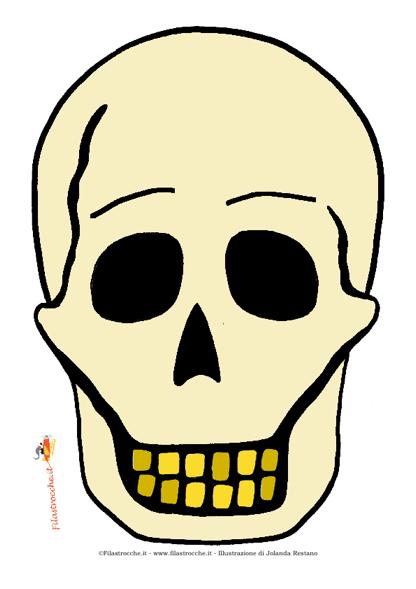 Maschera di halloween teschio stampa disegna e crea - Come disegnare immagini di halloween ...