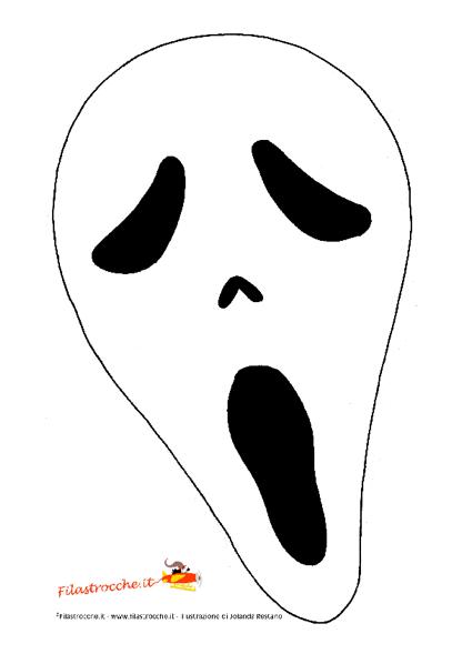 Maschera Di Halloween Urlo Da Colorare Stampa Disegna E Crea