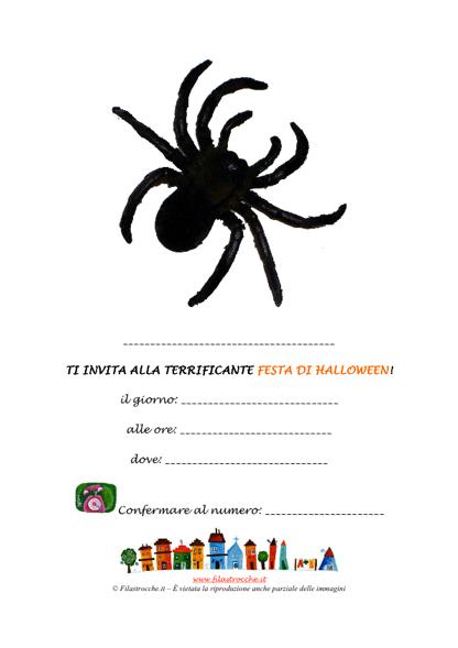 Invito da appendere per la Festa di Halloween - Ragno - Stampa ... 2ea868ce3de1
