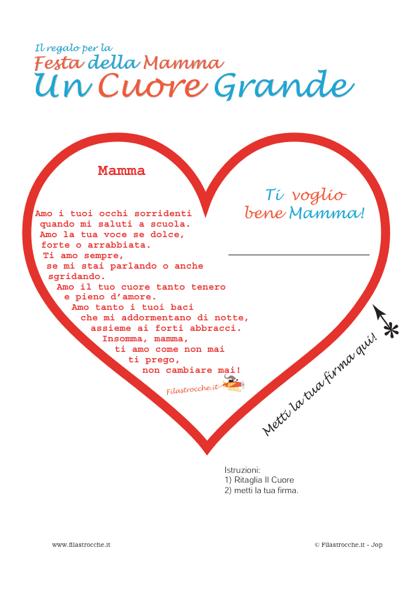 Idea Regalo Festa Della Mamma Un Cuore Grande Mamma Stampa