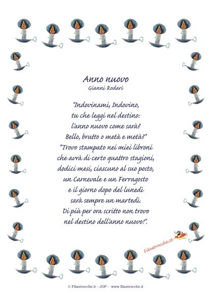 Poesia Natale Rodari.Idea Regalo Per Natale Poesia In Cornice Anno Nuovo Di Gianni Rodari 1 Versione Stampa Disegna E Crea Con Filastrocche It