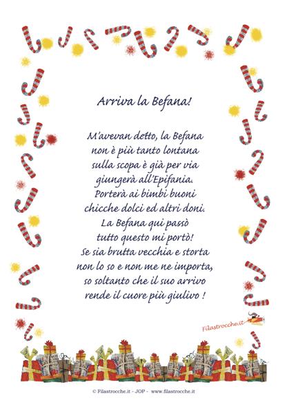 Idea regalo per natale poesia in cornice arriva la befana stampa disegna e crea con - Regalo di buon auspicio per casa nuova ...