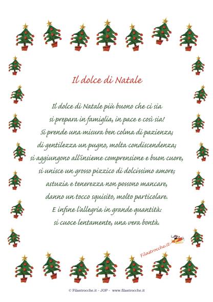 Auguri Di Natale Dolci D Amore.Idea Regalo Per Natale Poesia In Cornice Il Dolce Di Natale Stampa Disegna E Crea Con Filastrocche It