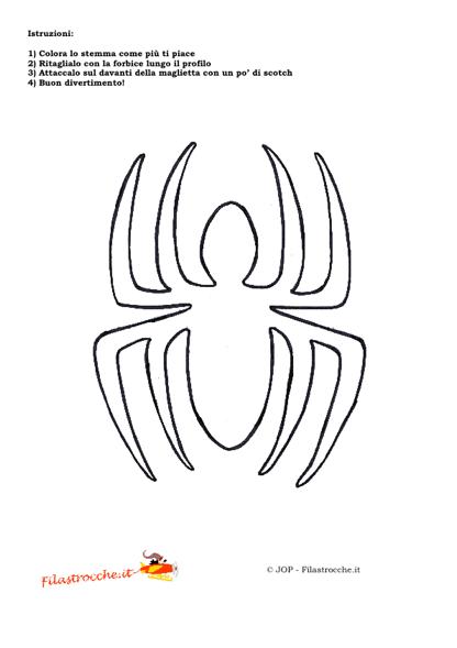 Travestimenti supereroi stemma uomo ragno da colorare for Uomo ragno immagini da colorare