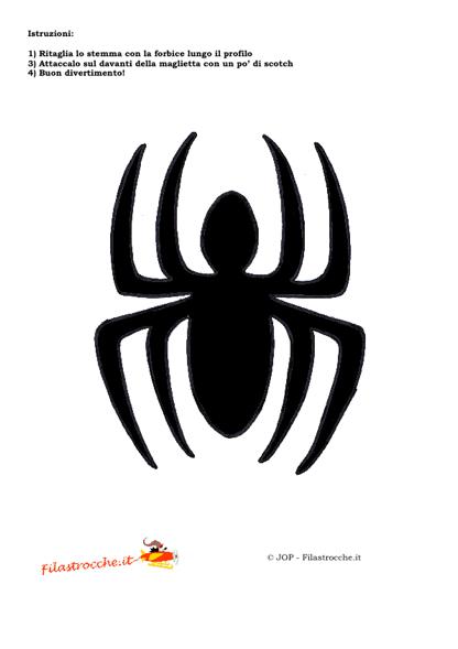Travestimenti supereroi stemma uomo ragno stampa for Uomo ragno immagini da colorare