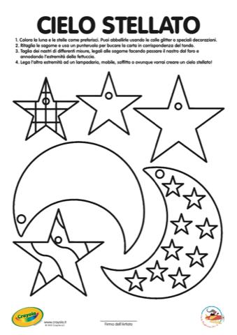 Cielo Stellato Da Colorare Per Bambini.Crea Il Tuo Cielo Stellato Con Crayola Stampa Disegna E Crea