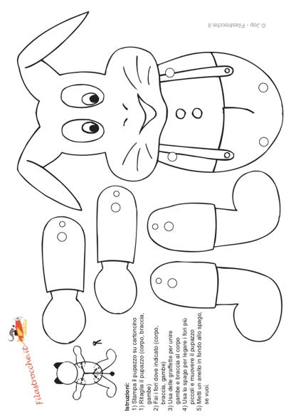 Pupazzo Coniglietto Da Colorare Stampa Disegna E Crea Con