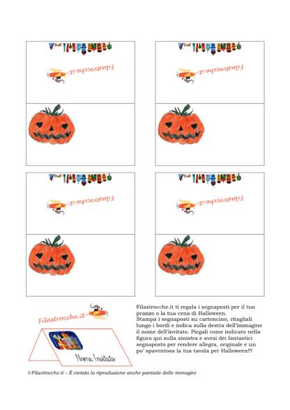 Cose utili - Segnaposto di Halloween 84fdf8f97a23