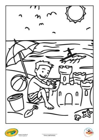 Colora Con Crayola Estate Stampa Disegna E Crea Con Filastrocche It
