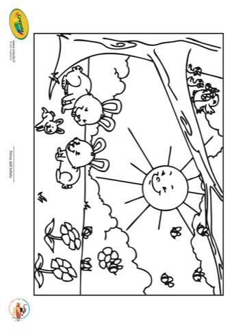 Colora Con Crayola Primavera Stampa Disegna E Crea Con