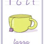 Abbecedario a colori – Lettera T