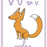 Abbecedario a colori – Lettera V