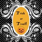 """Decorazioni per Halloween: Poster """"Trick or Treat!"""""""