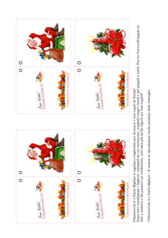 Biglietti Per Regali Di Natale Da Stampare.Biglietto Di Natale Per Decorare I Regali Babbo Natale Seduto E Candela Stampa Disegna E Crea Con Filastrocche It