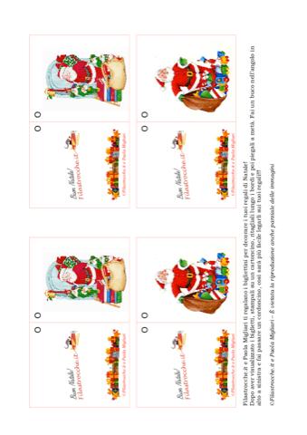Biglietti Per Regali Di Natale Da Stampare.Biglietto Di Natale Per Decorare I Regali Babbo Natale E I Pacchetti Dono Stampa Disegna E Crea Con Filastrocche It