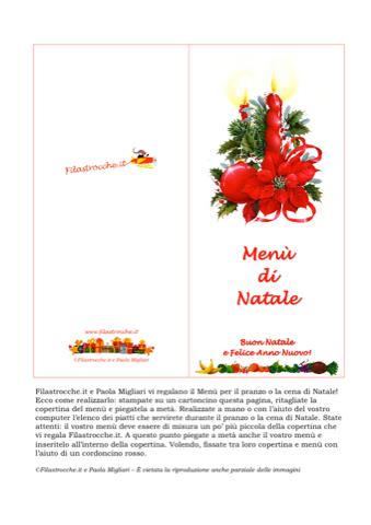 Immagini Menu Di Natale Da Stampare.Cose Utili Menu Di Natale Candela Stampa Disegna E