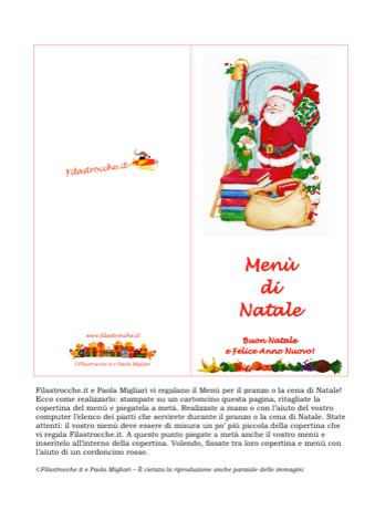 Cose utili - Menù di Natale, Babbo Natale con gli Elfi ...