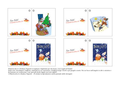 Biglietti Per Regali Di Natale Da Stampare.Biglietto Di Natale Per Decorare I Regali Stampa Disegna E Crea Con Filastrocche It