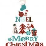 """Decorazioni per Natale: Poster """"Merry Christmas"""""""