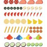 Facciamo la pizza: gli ingredienti colorati