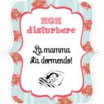 Idea regalo per la Festa della Mamma: Non disturbare! La mamma sta dormendo
