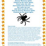 Imparare l'inglese cantando: Eencey Weencey spider