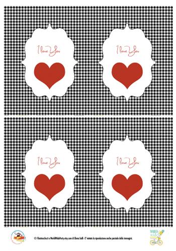 Biglietti di auguri per san valentino stampa disegna e crea con - Decorazioni di san valentino ...
