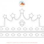 Corona da Regina in bianco e nero