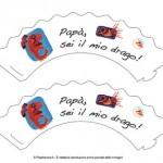 Portacupcake per la Festa del Papà: sei un drago!