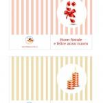 Biglietti di Auguri per Natale con caramella di Natale e candele profumate