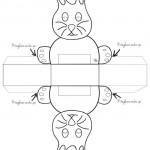 Scatoletta a forma di coniglio in bianco e nero