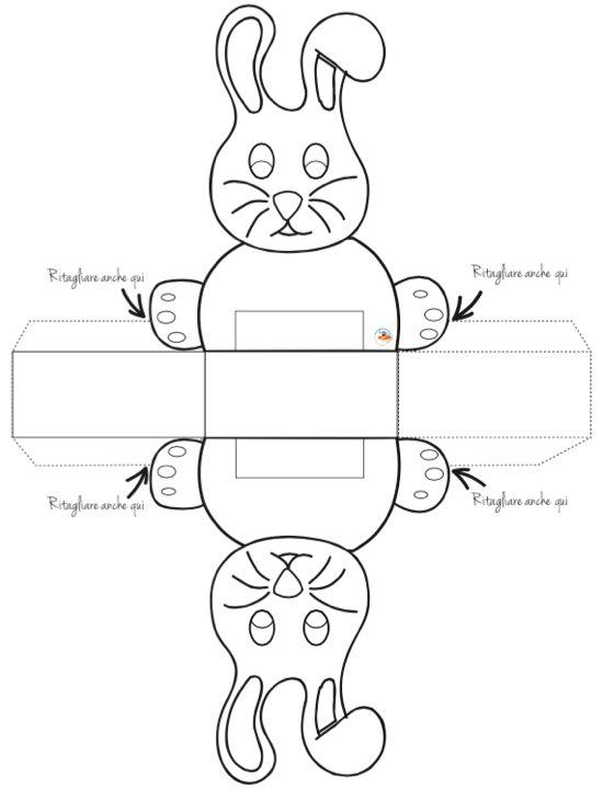 Scatoletta a forma di coniglio