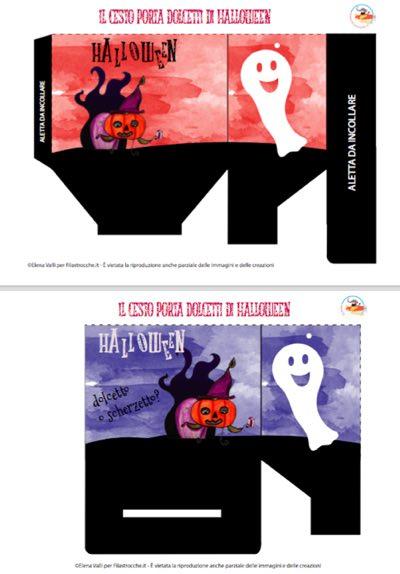 Scatola portadolcetti per Halloween