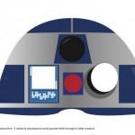 Maschera R2D2 colorata