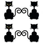 Gatti neri per Halloween da stampare