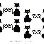 Gattini neri per Halloween da stampare