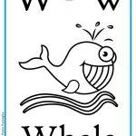 ABC book: Abbecedario inglese: Lettera W da colorare