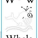 ABC book: Abbecedario inglese: Lettera W, versione unisci i puntini