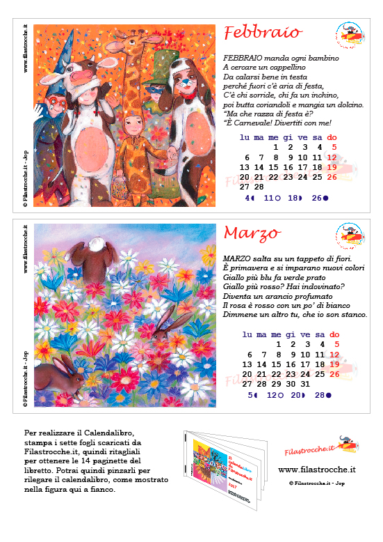 Calendalibro 2017 - Febbraio e Marzo
